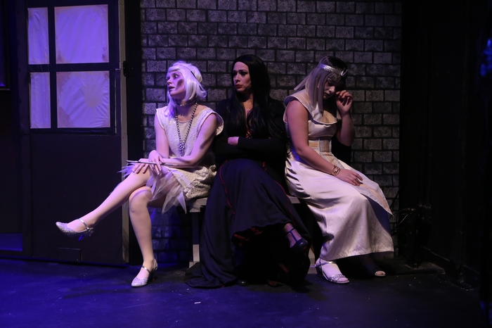 Hailey McLeod, Ginette Simonot and Madison McNees in The Addams Family