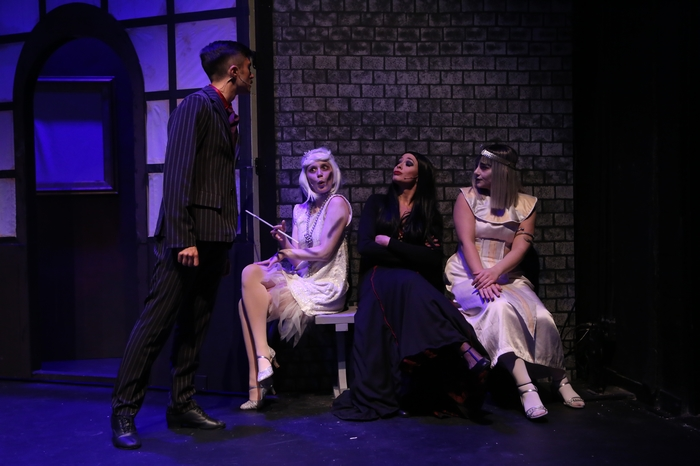 Quinn Lazenby, Hailey McLeod, Ginette Simonot and Madison McNees in The Addams Family