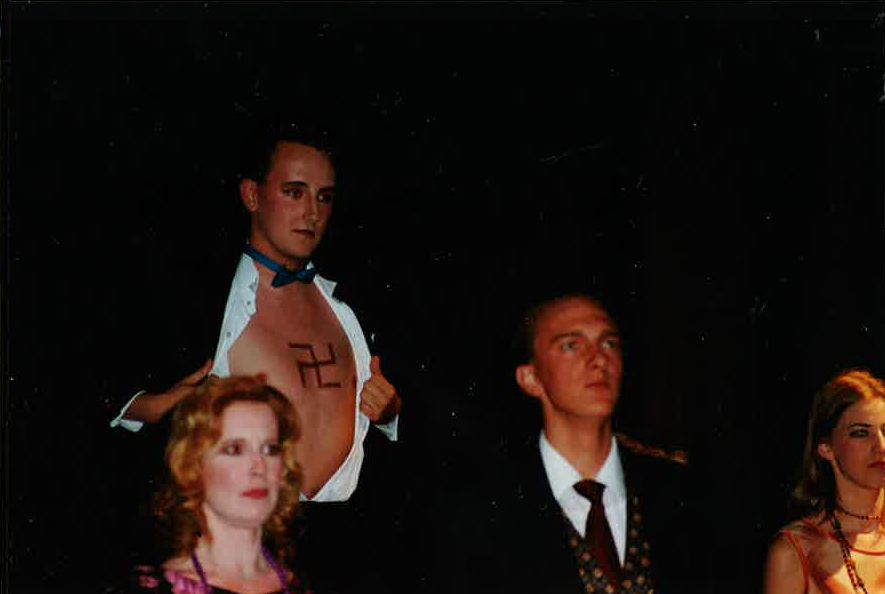 Ryan Wagner, Michele Gallant and Chris Willott in Cabaret