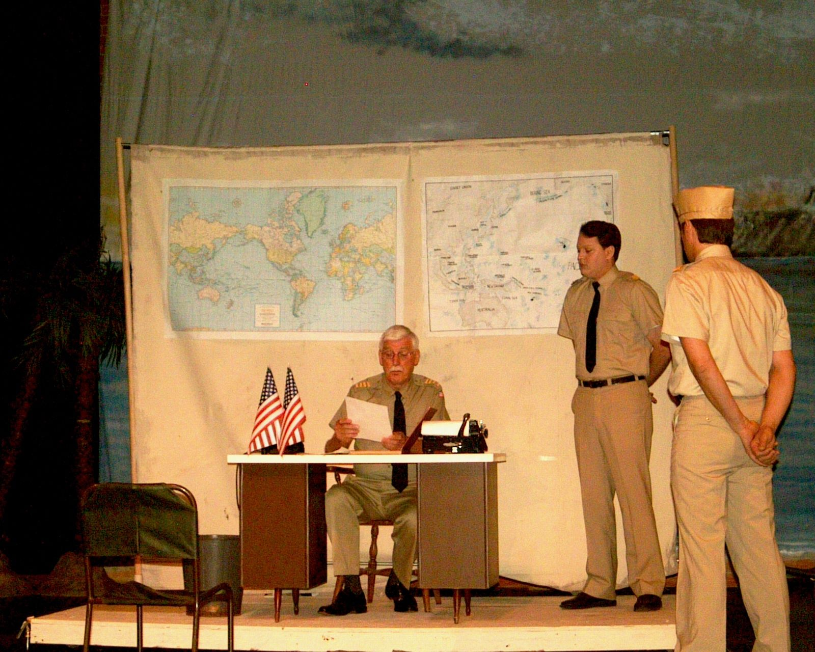 Peter Minnema and Jay Newman in South Pacific