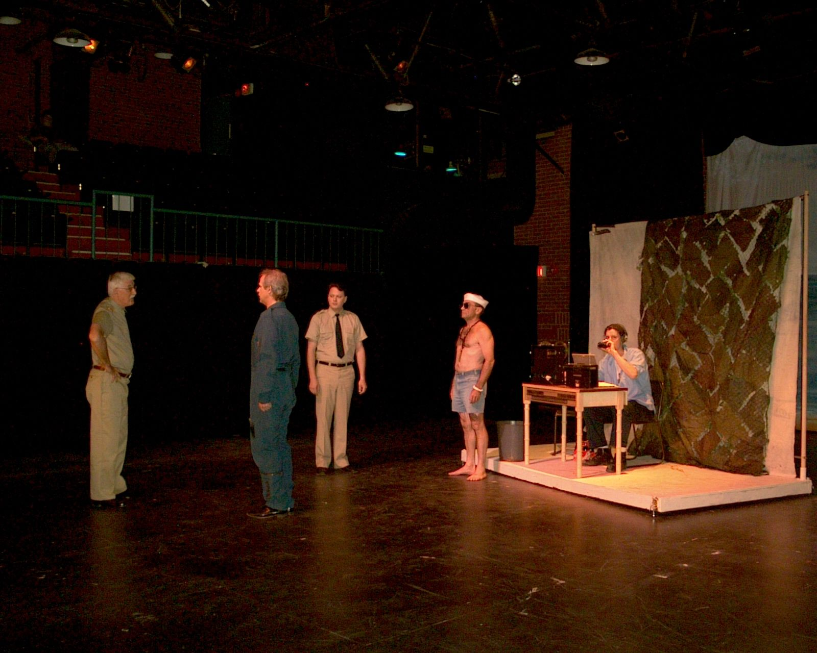 Peter Minnema, Greg Spielman, Jay Newman and Dave Gagnier in South Pacific