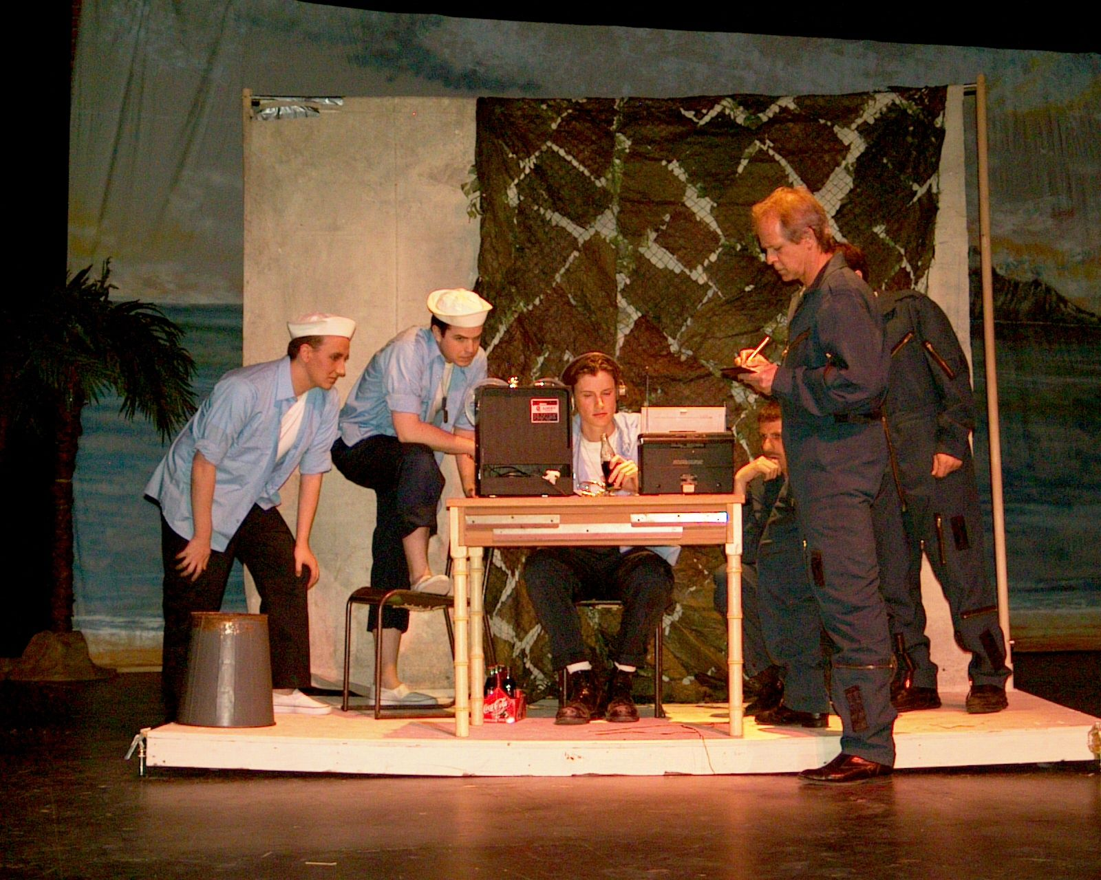 Ryan Wagner, Chris Wiseman, Dave Gagnier and Greg Spielman in South Pacific