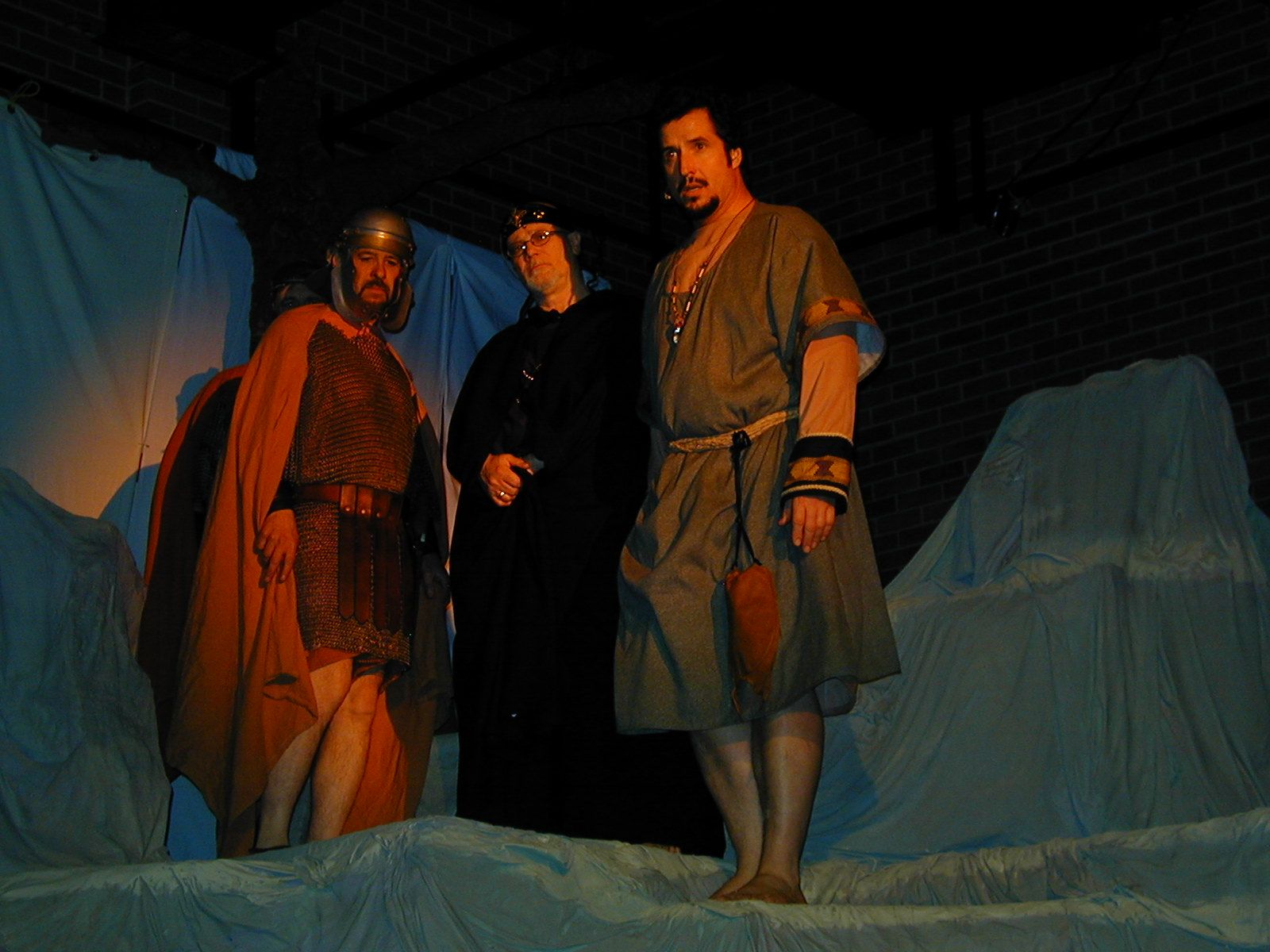 Mike Johnson, Bo Light and D'Arcy Browning in Jesus Christ Superstar