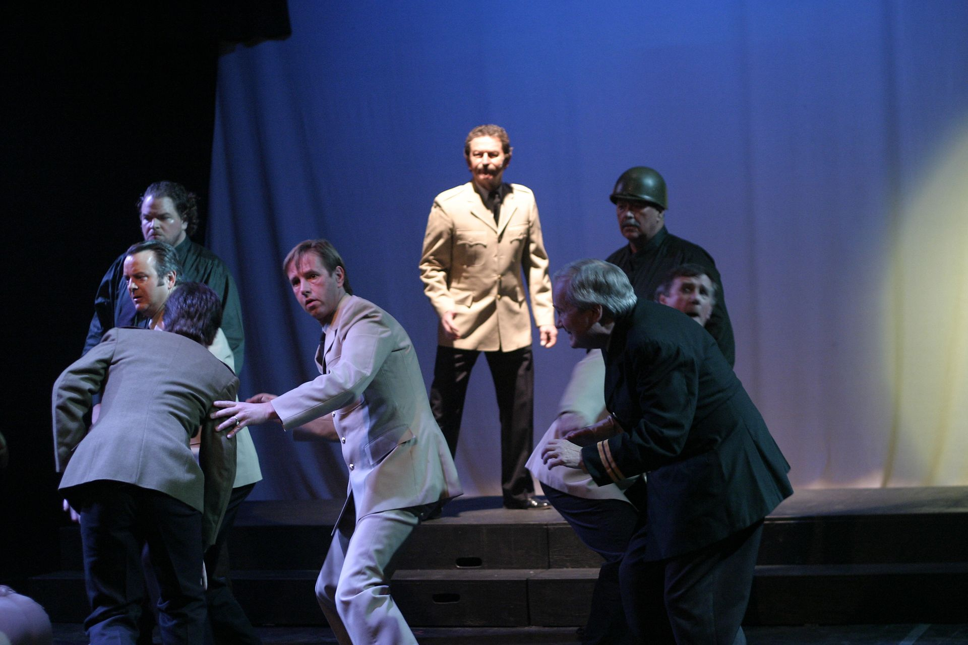 Christi Neahr, Randy Young, Heimen Van Essen, Richard Heyman, Bill Watson, Tim Elliott and David Young in Evita