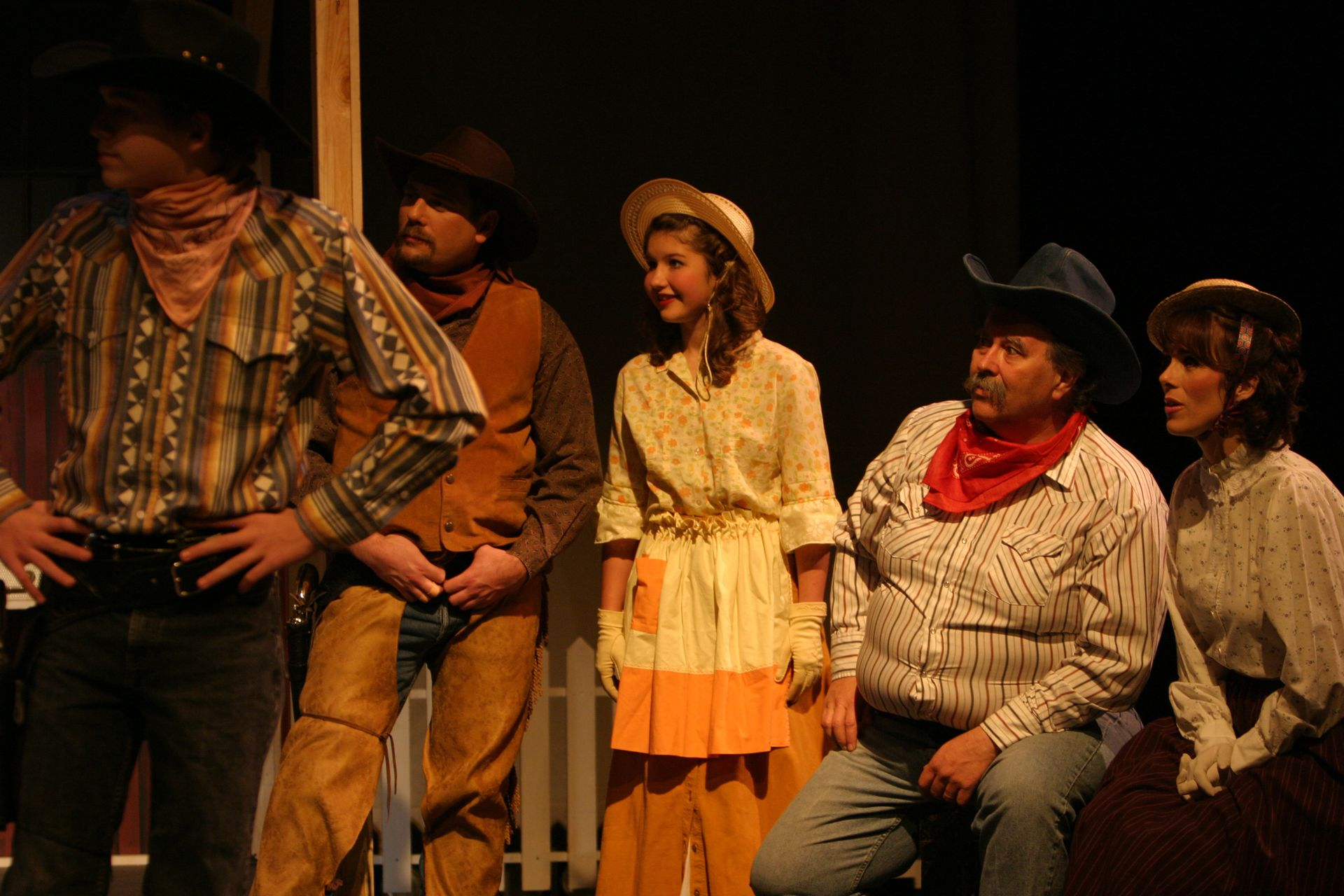 David Wiens, Les Sorenson, Alyssa Durnie, Tim Elliott and Christine Horne in Oklahoma