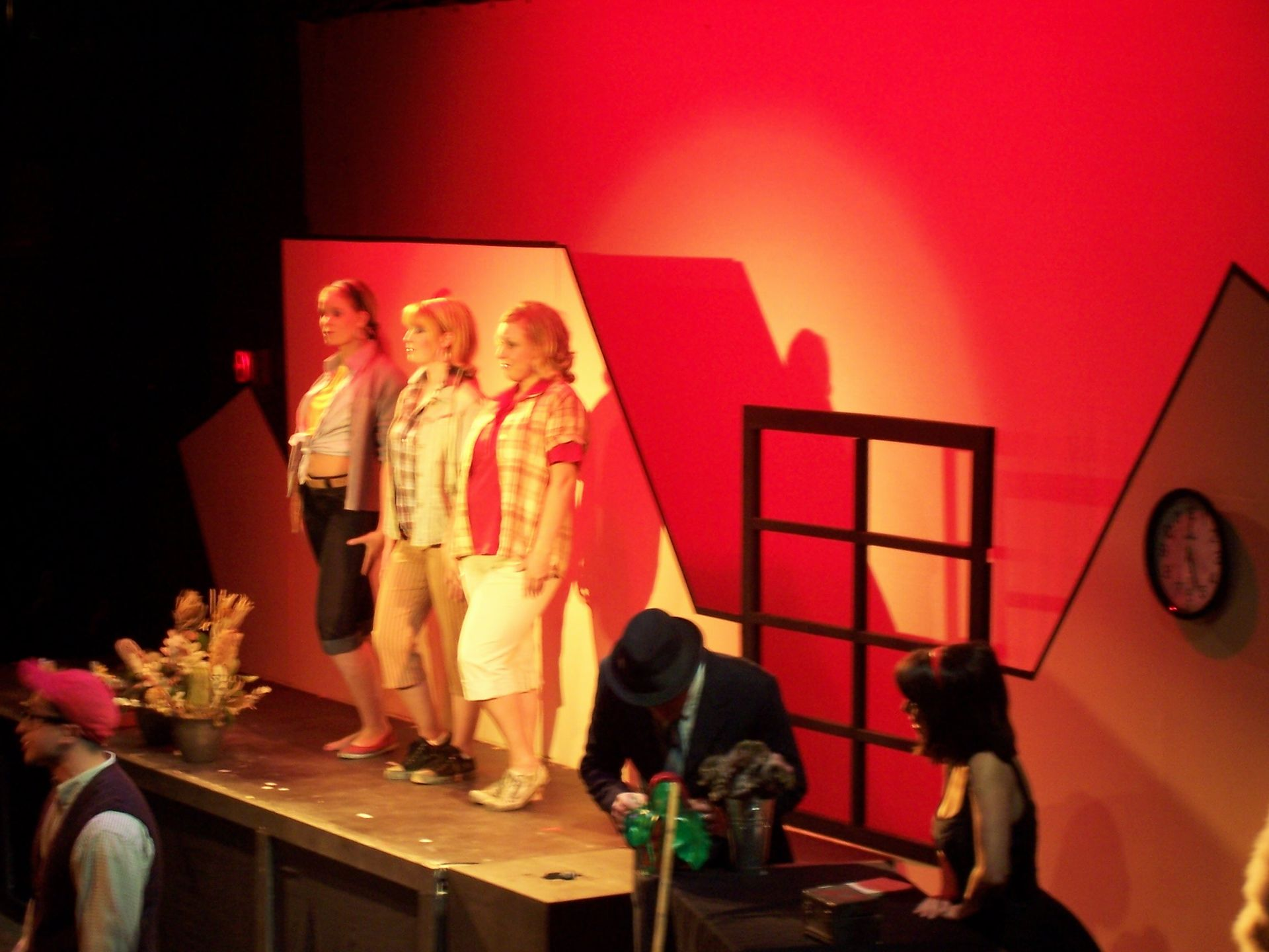 Krista Willott, Heather Oystryk and Lyndsey Paterson in Little Shop of Horrors