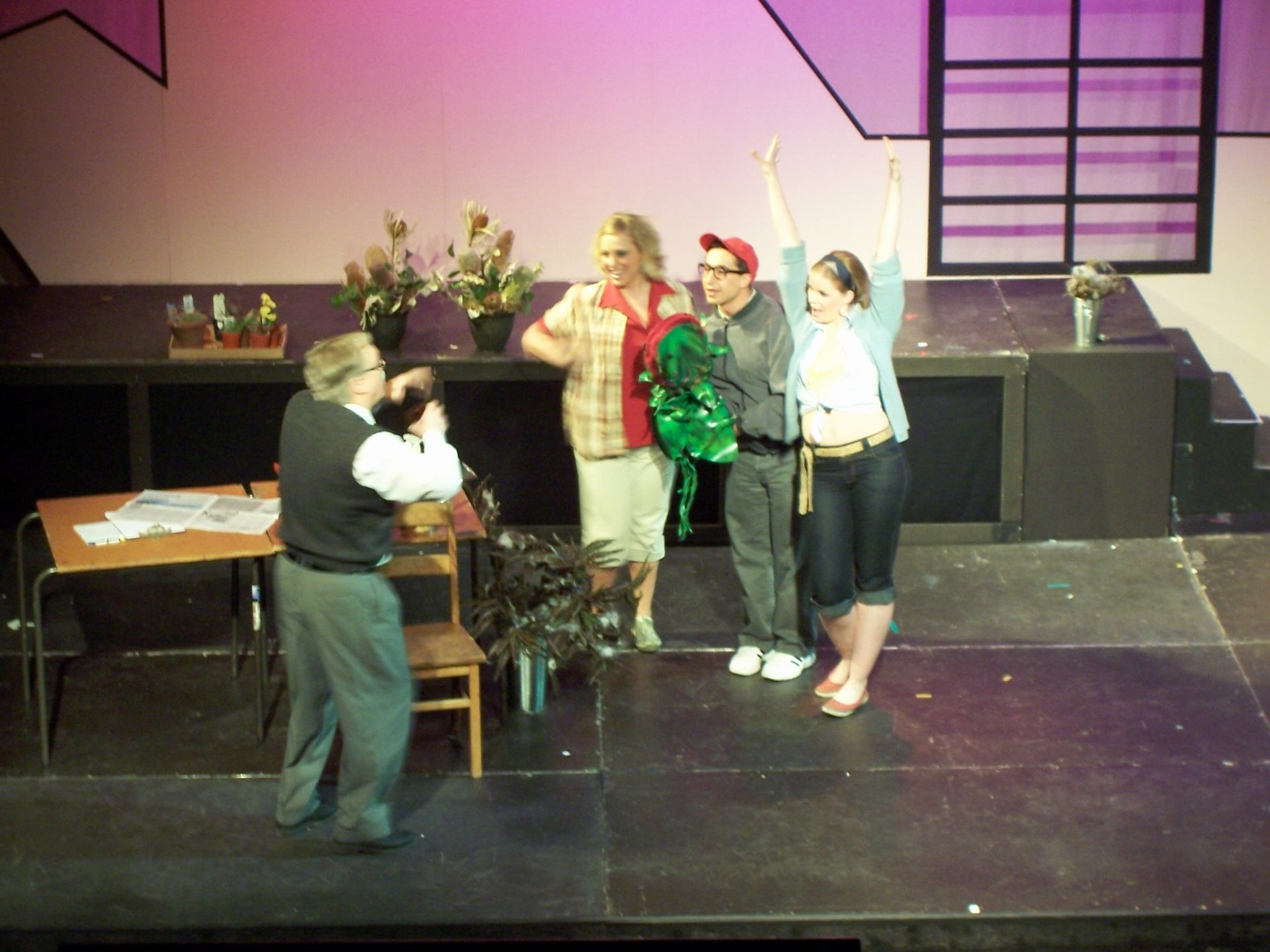 Carl Bishop, Lyndsey Paterson, Levon Yon and Krista Willott in Little Shop of Horrors