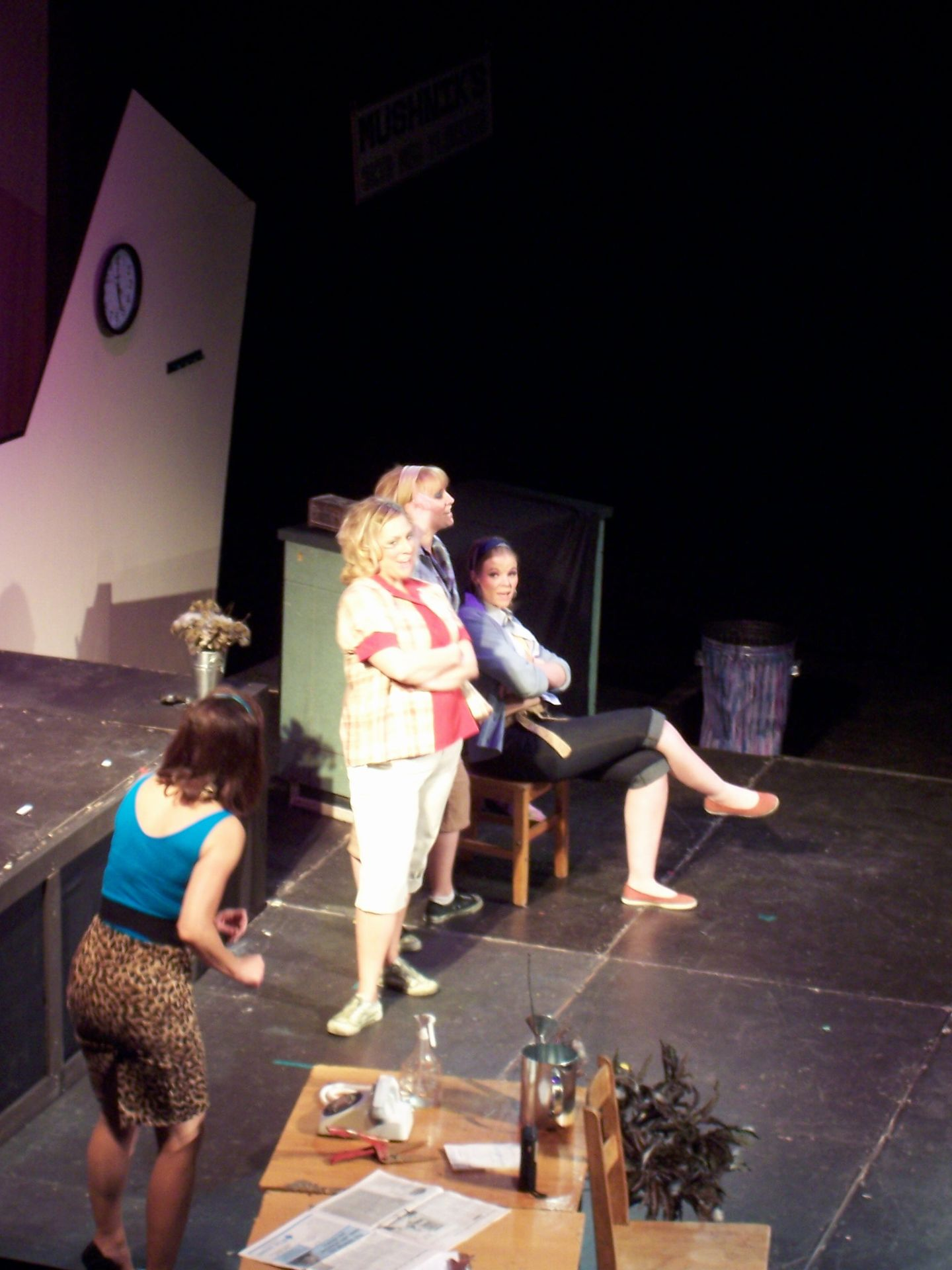 Christine Horne, Lyndsey Paterson, Heather Oystryk and Krista Willott in Little Shop of Horrors