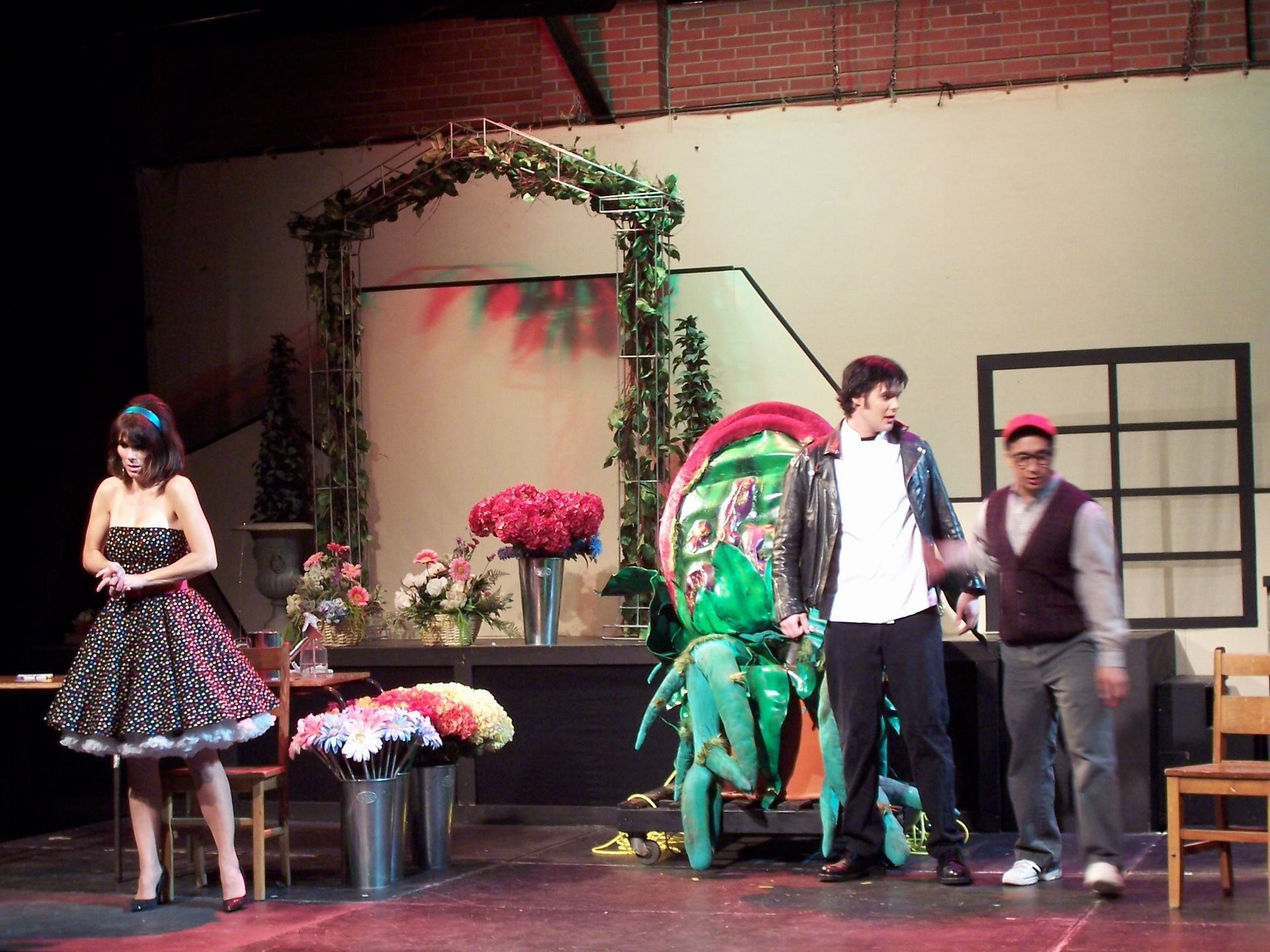 Christine Horne, Lindsay Robertson and Levon Yon in Little Shop of Horrors