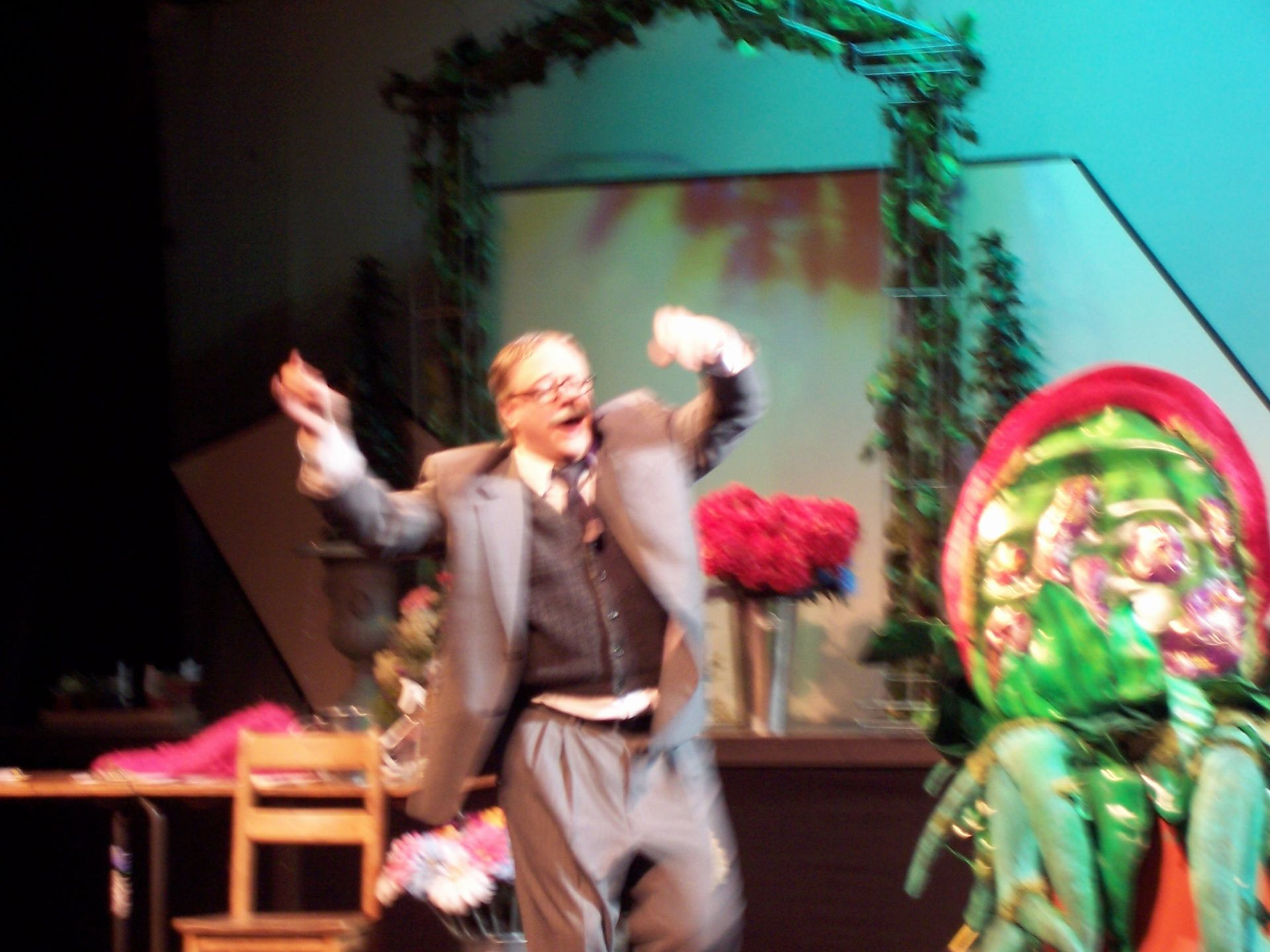 Carl Bishop in Little Shop of Horrors