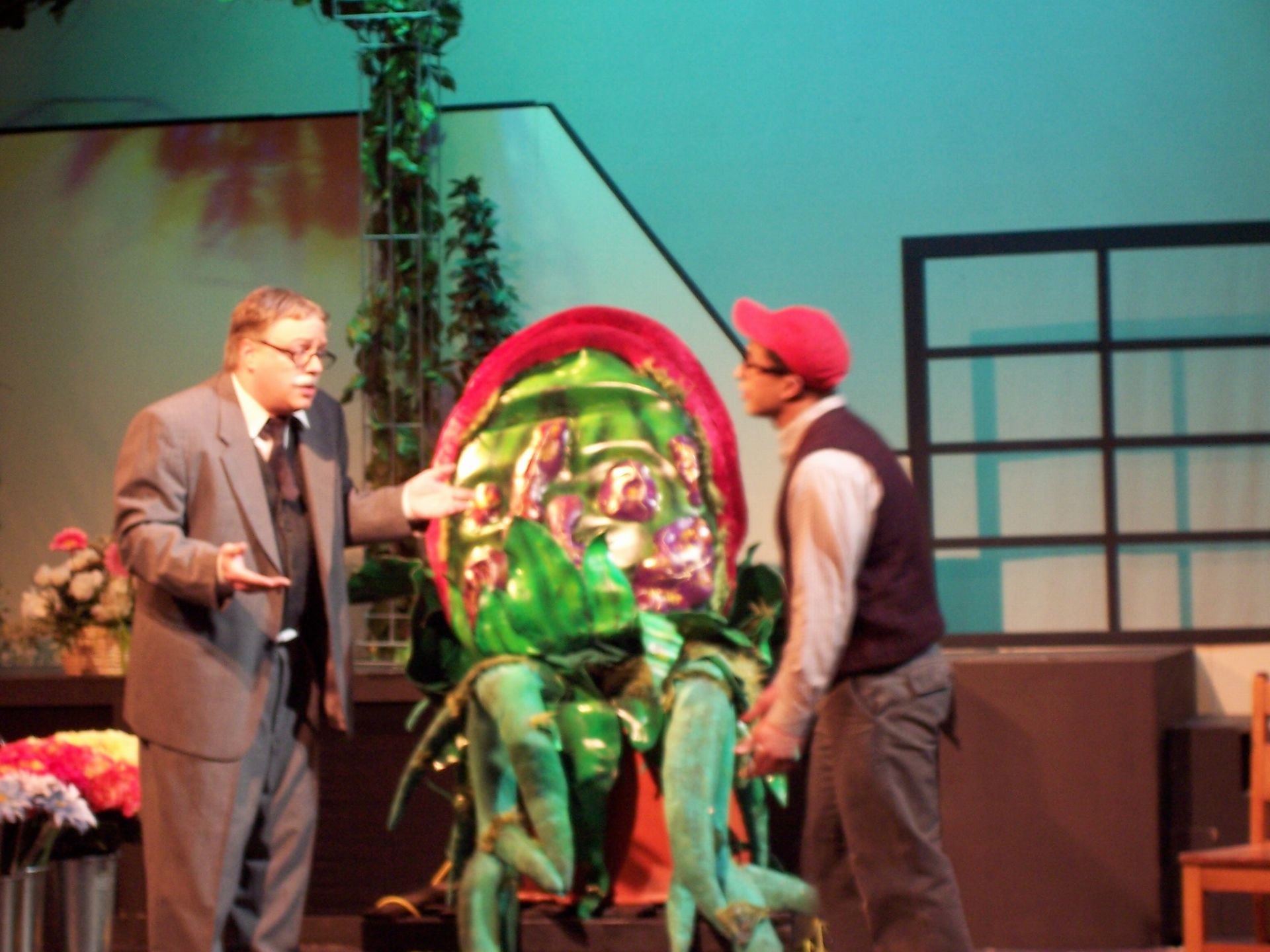 Carl Bishop and Levon Yon in Little Shop of Horrors