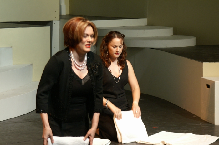 Judy Dunsmuir and Christy Denike in Nine
