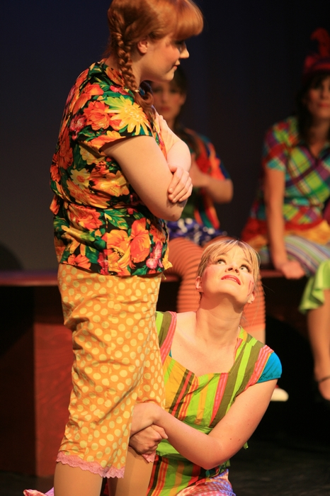 Heather Smuda and Krista Willott in Godspell