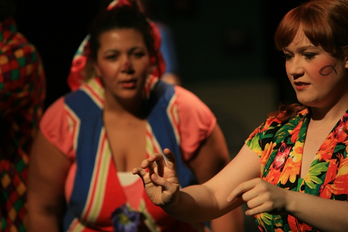 Jolene Anderson and Heather Smuda in Godspell