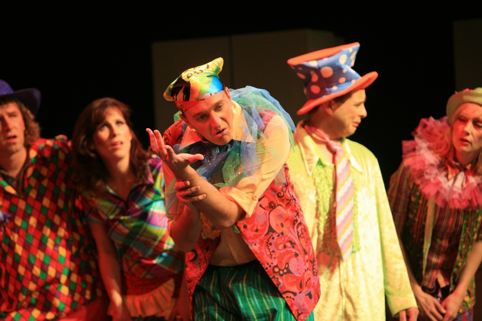 Heimen Van Essen, Christine Horne, Chris Willott, Omar Escobar and Charlotte Loeppky in Godspell