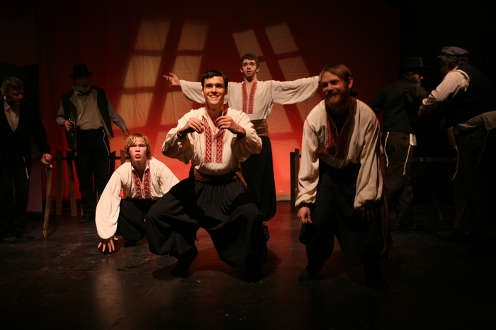 Kevin Ray, Marcus Bauer, David Wiens and Darren Stewart in Fiddler on the Roof