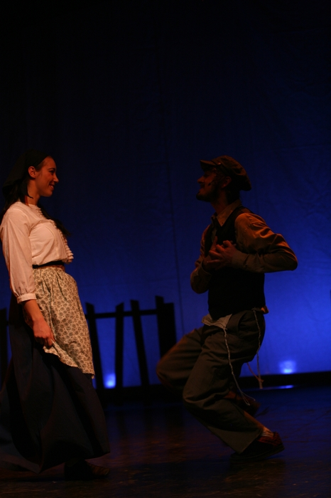 Crystal May and Keiffer Davies in Fiddler on the Roof