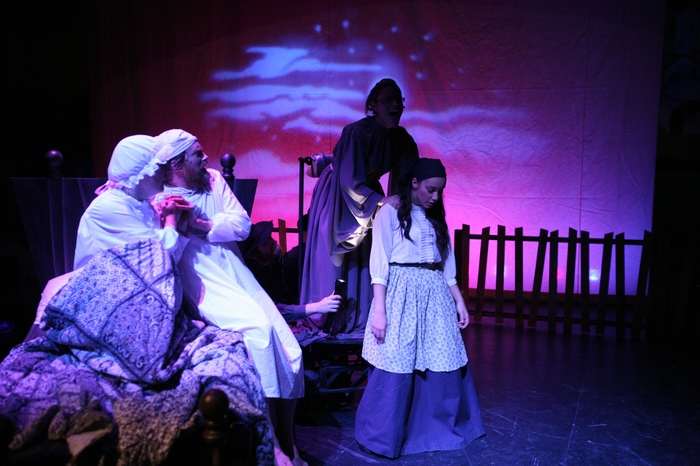 Colleen Bishop, Michael Brown, Katie Layton and Crystal May in Fiddler on the Roof