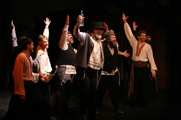 Marcus Bauer, Darren Stewart, Jim Fellows, Tom Cuthbertson, George Smith and David Wiens in Fiddler on the Roof