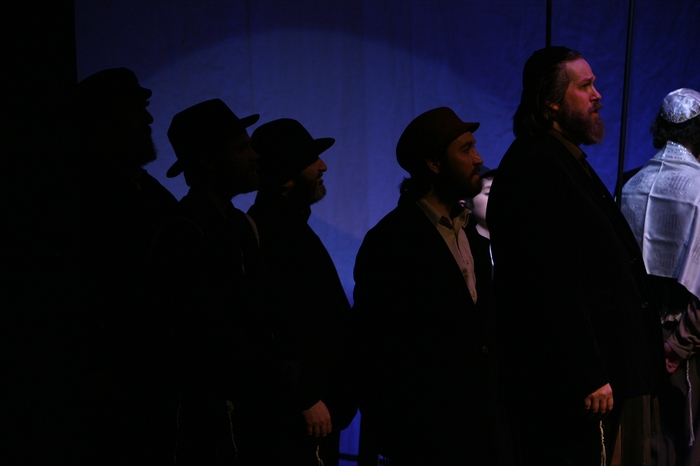 Jim Fellows, Darren Stewart, Gary Silberg, Lazlo Finnegan and George Smith in Fiddler on the Roof
