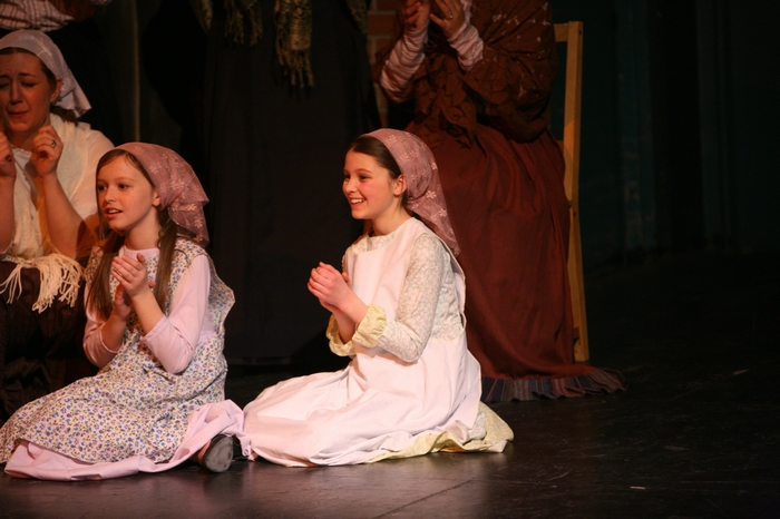 Natalie Mack and Hannah Cinel in Fiddler on the Roof