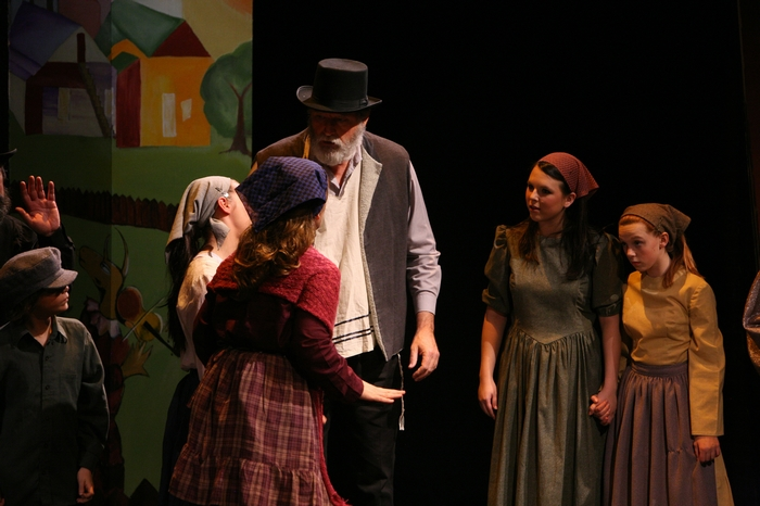 Jake Sunderland, Tom Cuthbertson, Natalie Manz and Emily Sunderland in Fiddler on the Roof