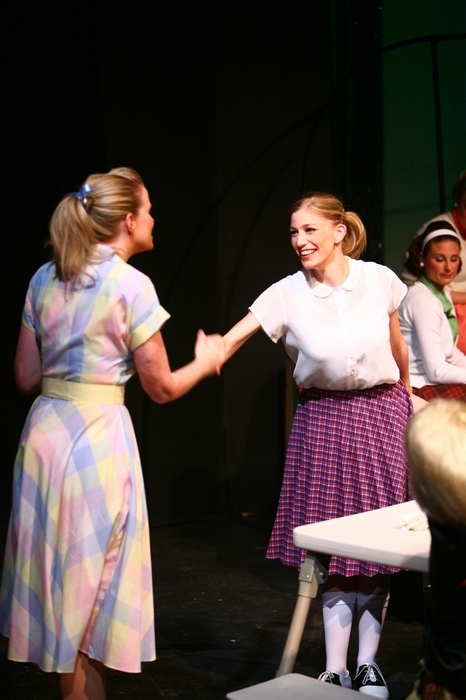 Krista Willott and Erin Madill in Grease