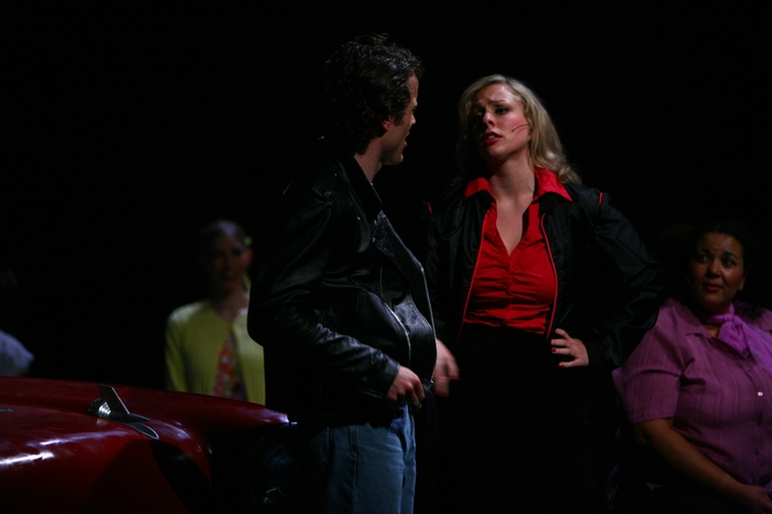 Riley Ohler and Lyndsey Paterson in Grease