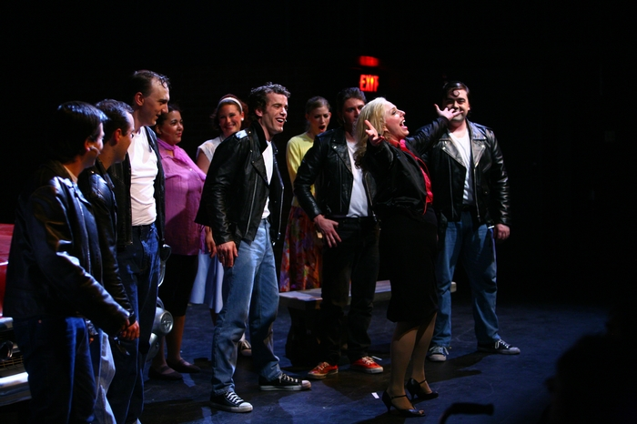 Riley Ohler, Keiffer Davies, Lyndsey Paterson, Omar Escobar, Jolene Anderson, Terra Plum, Erin Madill, Devon Hall and Philip Frias in Grease