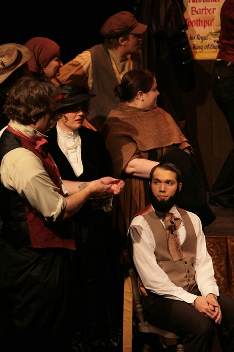 Kirk Heuser and Mitchell Lukinuk in Sweeney Todd: The Demon Barber of Fleet Street