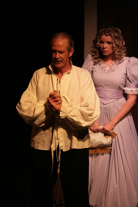 Greg Spielman and Krista Willott in Sweeney Todd: The Demon Barber of Fleet Street