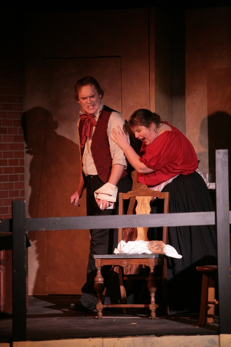 Kirk Heuser and Tarra Riley in Sweeney Todd: The Demon Barber of Fleet Street
