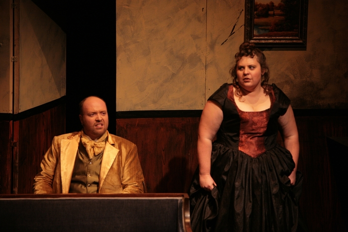 Jeremy Walker and Tarra Riley in Sweeney Todd: The Demon Barber of Fleet Street