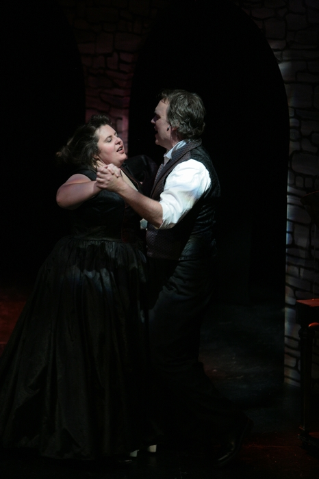 Tarra Riley and Kirk Heuser in Sweeney Todd: The Demon Barber of Fleet Street