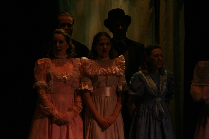Katie Miller, Sarah Ord and Emily Sunderland in Hello Dolly!