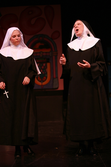 Natalie Manz and Donna Barnfield in Nunsense the Mega Musical