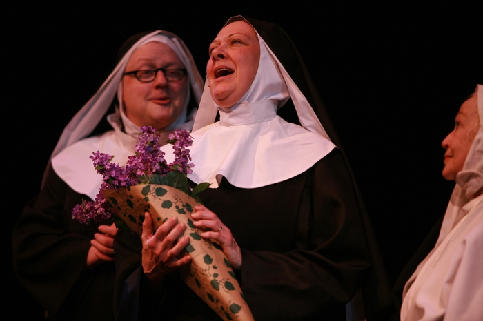 Carl Bishop and Donna Barnfield in Nunsense the Mega Musical