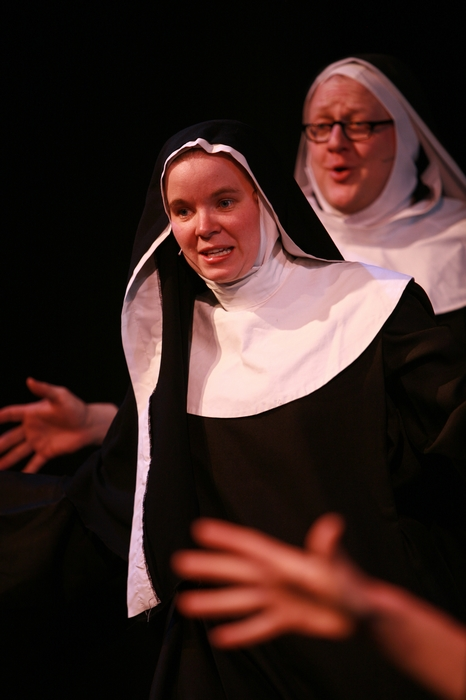 Krista Willott and Carl Bishop in Nunsense the Mega Musical