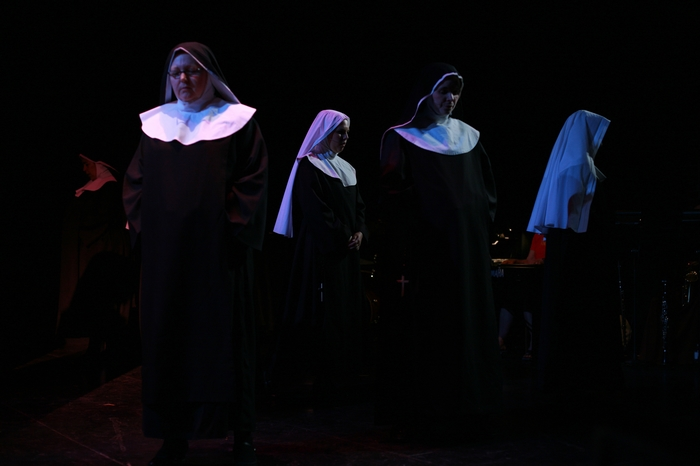 Cynthia Anderson, Natalie Manz and Krista Willott in Nunsense the Mega Musical