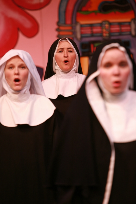 Andrea Gleason and Veronica Mack in Nunsense the Mega Musical