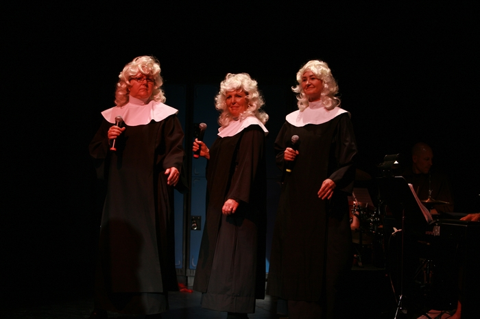 Cynthia Anderson, Kerry Miller and Veronica Mack in Nunsense the Mega Musical