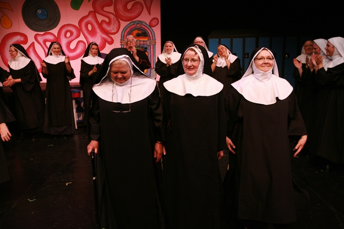 Mary Rooney, Julie Bradley and Mavis Clark in Nunsense the Mega Musical