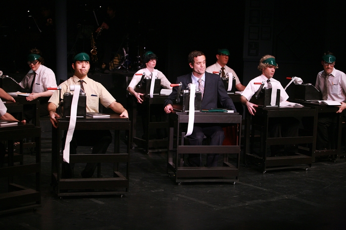 Judy Dunsmuir, Matthew McDonald, Lindsay Harle, Riley Ohler, Brian Holiday, Mitchell Lukinuk and Marcus Bauer in The Producers
