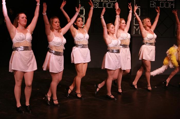 Meg Thatcher, Rebecca Foster, Amanda Mak, Jacqueline Bourque, Jenifer Snell and Ainsley Ohler in The Producers