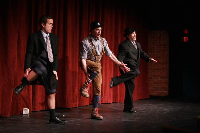 Riley Ohler, Allen Crowley and Clark Adams in The Producers
