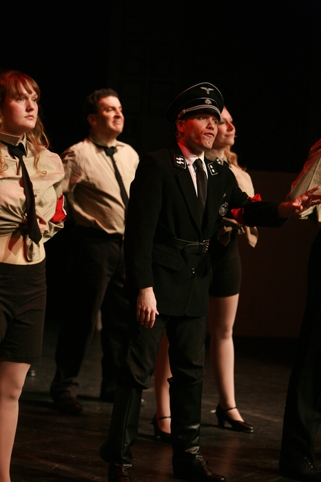 Meg Thatcher, Gary Silberg, Mitchell Lukinuk and Jenifer Snell in The Producers