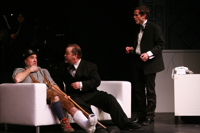 Allen Crowley, Clark Adams and Riley Ohler in The Producers