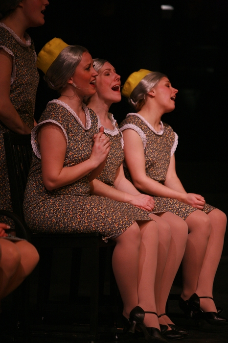 Rebecca Foster, Jenifer Snell and Jacqueline Bourque in The Producers