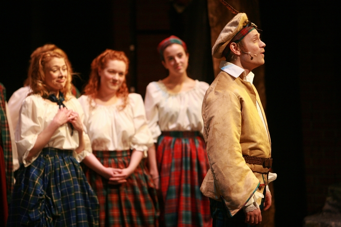 Ginette Simonot, Heather Smuda, Danielle Desmarais and Darren Stewart in Brigadoon