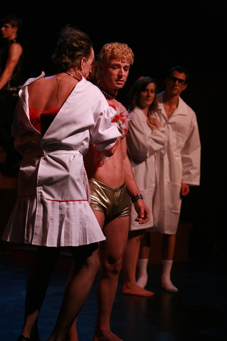 Michael Brown, Doug Keeling, Angela Valiant and Kevin Trumble in Rocky Horror Show